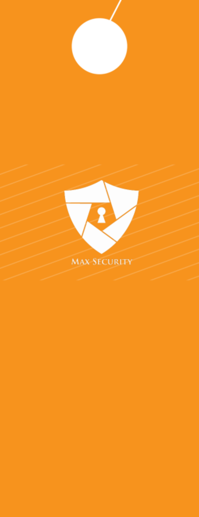 Max Home Security Door Hanger Template Preview 2