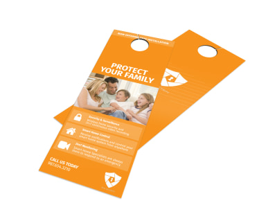 Max Home Security Door Hanger Template