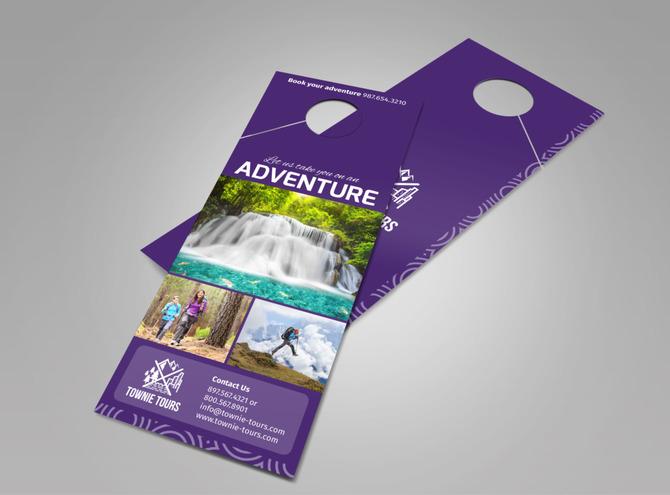 Townie Tours Adventure Service Doorhanger Template