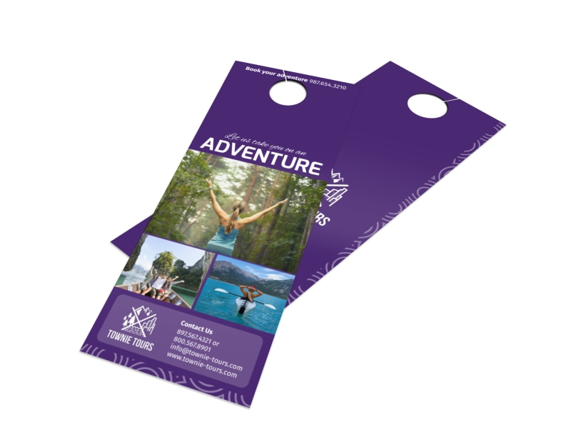 Townie Tours Adventure Service Door Hanger Template