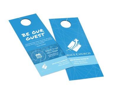 Grace Church Outreach Door Hanger Template 2 preview