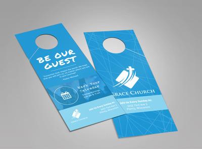Grace Church Outreach Doorhanger Template 2