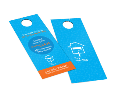 Tory Painting Discount Door Hanger Template 2