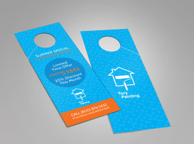 Tory Painting Discount Doorhanger Template 2