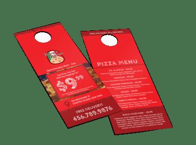 Food & Beverage Door Hangers Template Preview