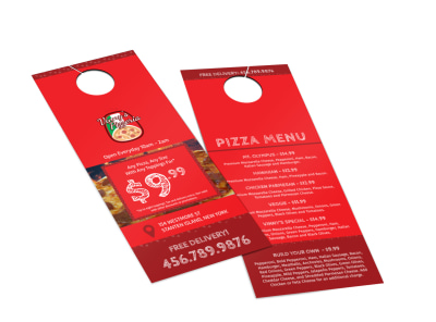 Vinny's Pizzeria Door Hanger Template 2 preview