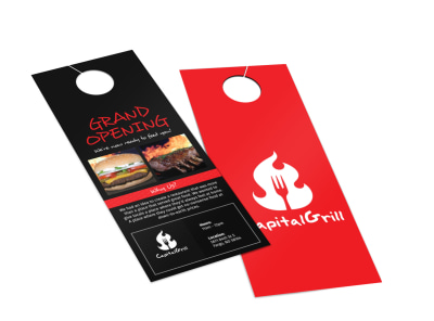Capital Grill Grand Opening Door Hanger Template 2