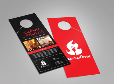 Capital Grill Grand Opening Doorhanger Template 2