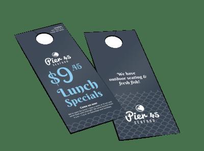 Restaurant Door Hangers Template Preview