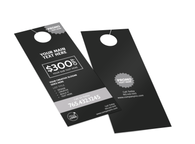 Generic Door Hangers Template Preview