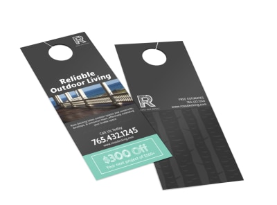 Ross Decking & Outdoor Living Door Hanger Template 2 preview
