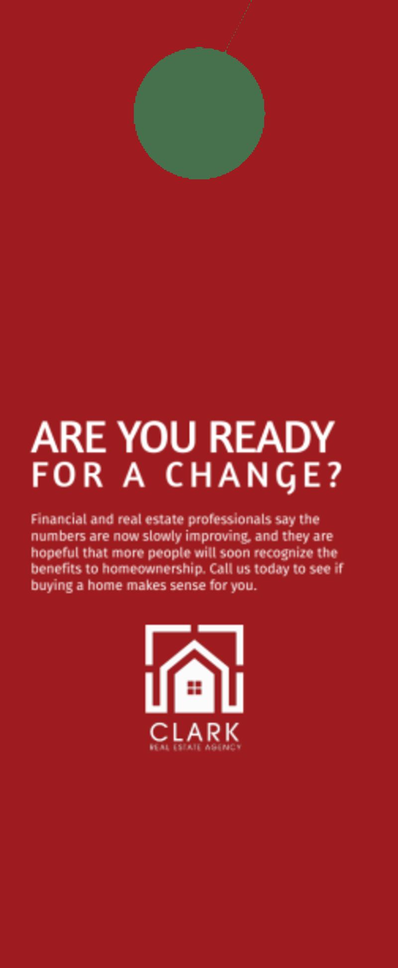 Clark Real Estate Agency Door Hanger Template Preview 3