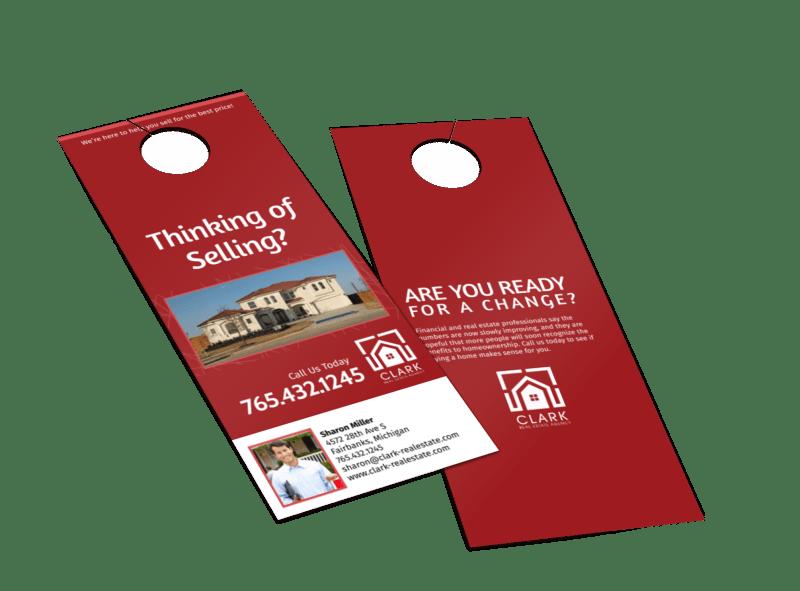 Clark Real Estate Agency Door Hanger Template Preview 1