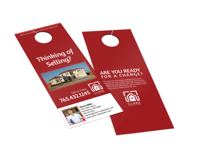 Clark Real Estate Agency Door Hanger Template MyCreativeShop - Real estate door hanger templates