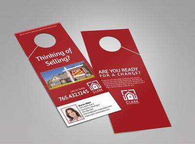 Clark Real Estate Agency Doorhanger Template 2