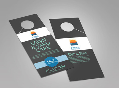 Pacific Lawn & Yard Care Doorhanger Template 2