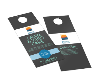 Pacific Lawn & Yard Care Door Hanger Template 2