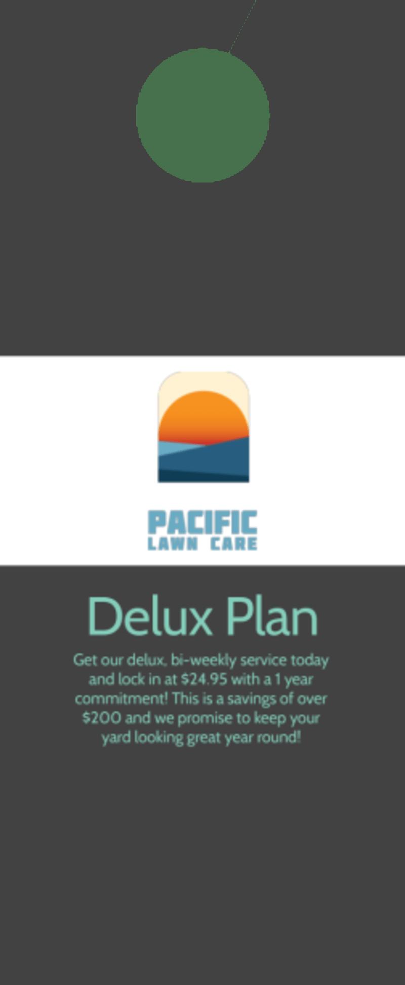 Pacific Lawn & Yard Care Door Hanger Template Preview 3