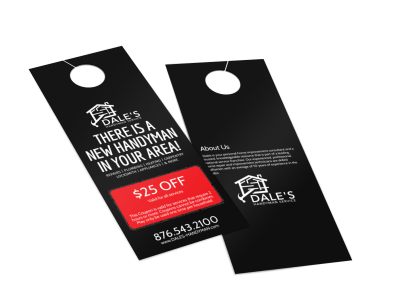 Handyman Door Hangers Template Preview