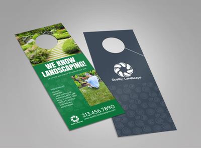 Quality Landscaping Service Doorhanger Template 2