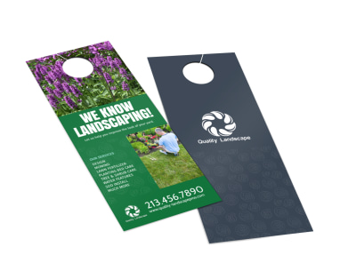 Quality Landscaping Service Door Hanger Template 2 & Landscape u0026 Gardens Door Hanger Templates | MyCreativeShop
