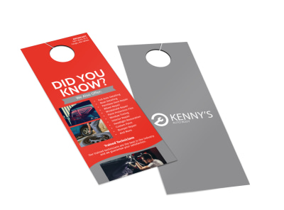 Kenny's Auto Body Door Hanger Template 2 preview