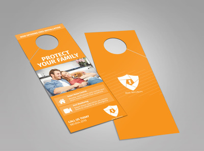 Max Home Security Doorhanger Template 2