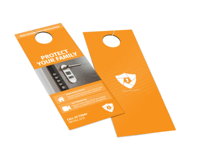 Max Home Security Door Hanger Template 2