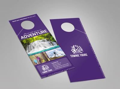 Townie Tours Adventure Service Doorhanger Template 2
