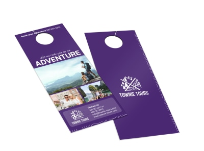 Townie Tours Adventure Service Door Hanger Template 2 preview
