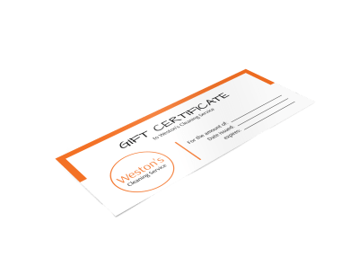 House Cleaning Gift Certificate Templates Template Preview