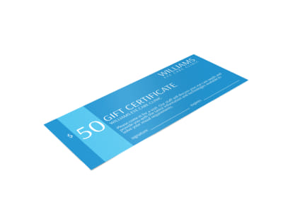 Williams Eye Care Gift Certificate Template