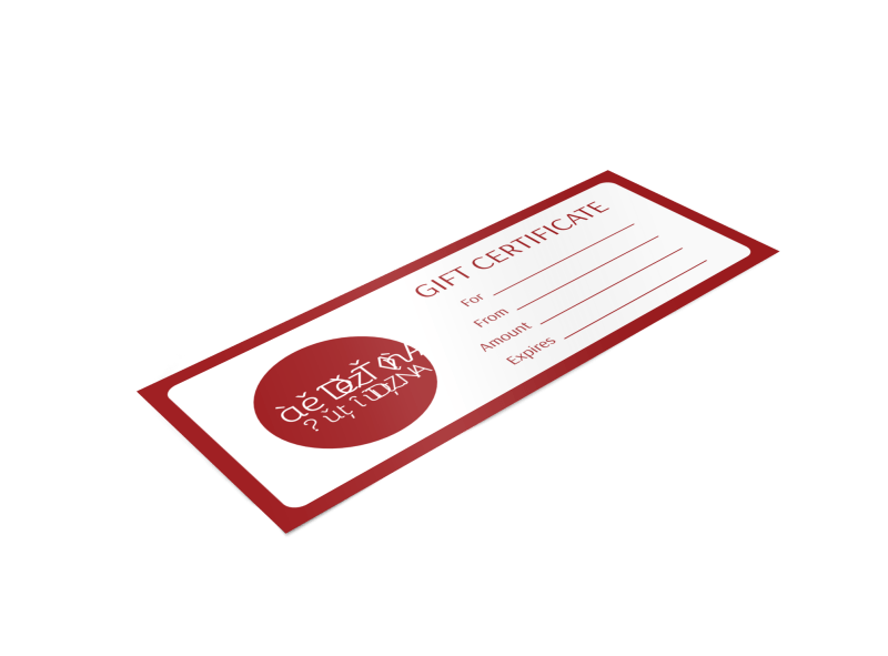 Sarah's Boutique Gift Certificate Template Preview 1