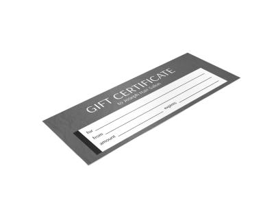 Joseph Hair Salon Gift Certificate Template