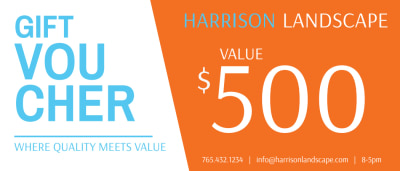 Harrison Landscape Gift Certificate Template Preview 1