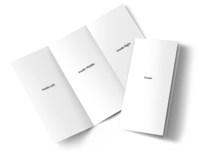 Blank Canvas Tri-Fold Brochure Template preview