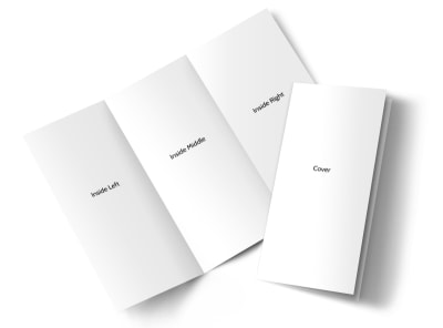 Blank Canvas Tri-Fold Brochure Template