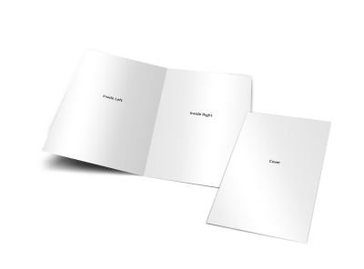 Blank Canvas Bi-Fold Brochure Template preview
