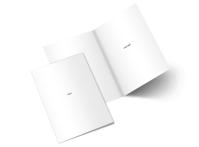 Blank Canvas Bi-Fold Brochure Template 2 preview