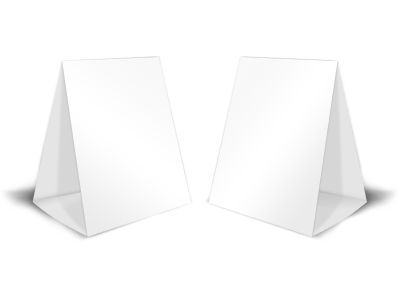 Blank Canvas Table Tent Template preview