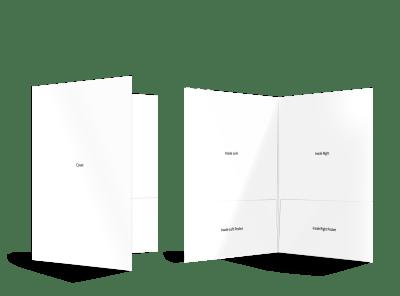 Blank Canvas Bi-Fold Pocket Folder Template preview