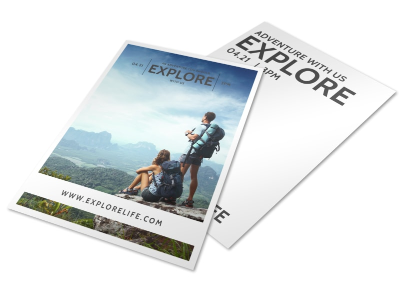 Explore Life Inspirational Designs Flyer Template Preview 4