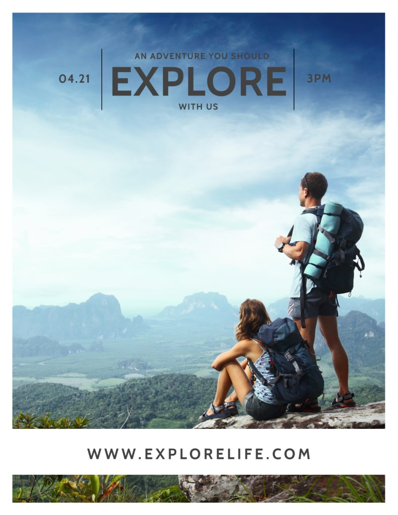 Explore Life Inspirational Designs Flyer Template Preview 2