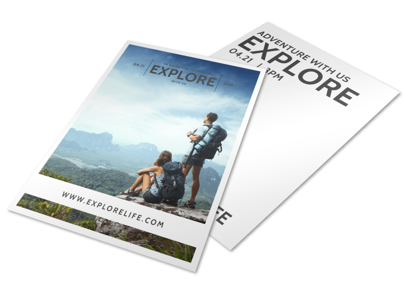 Explore Life Inspirational Designs Flyer Template Preview 1