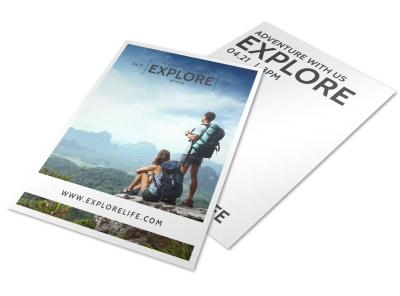 Explore Life Inspirational Designs Flyer Template preview