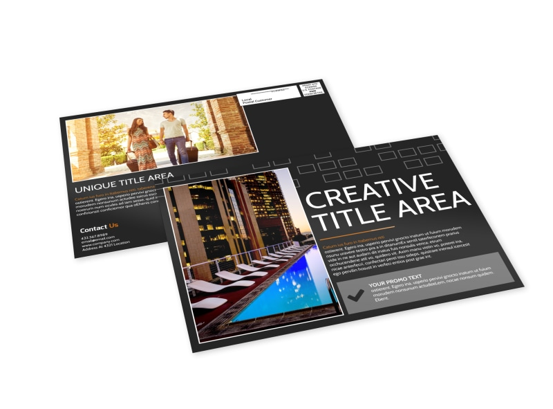 Only The Best Hotels EDDM Postcard Template Preview 4
