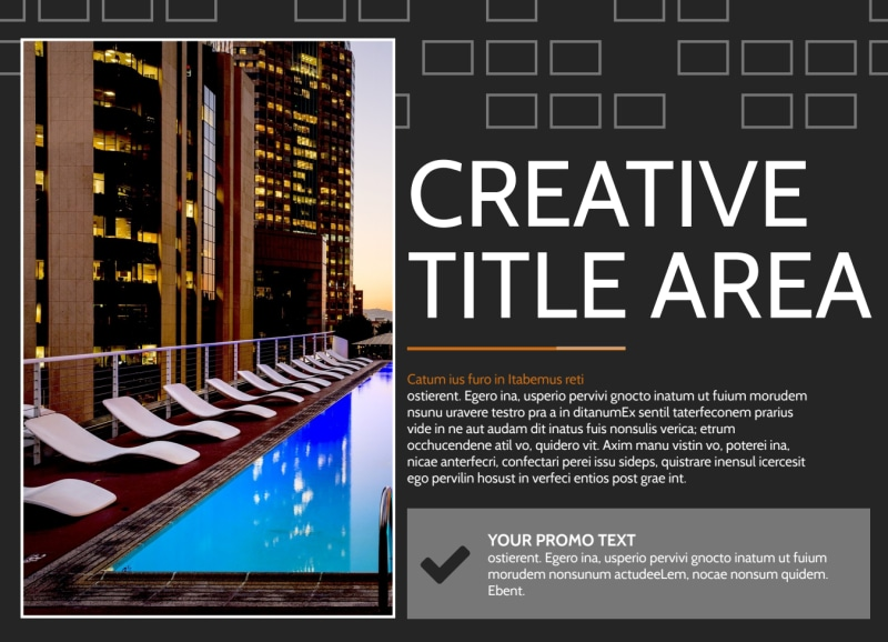 Only The Best Hotels EDDM Postcard Template Preview 2