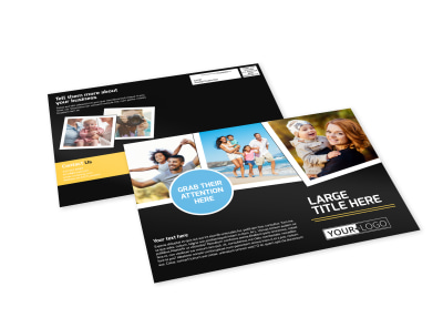 Family Photography Service EDDM Postcard Template preview