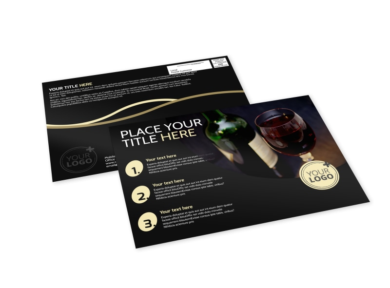 Winery & Wine Making EDDM Postcard Template Preview 4