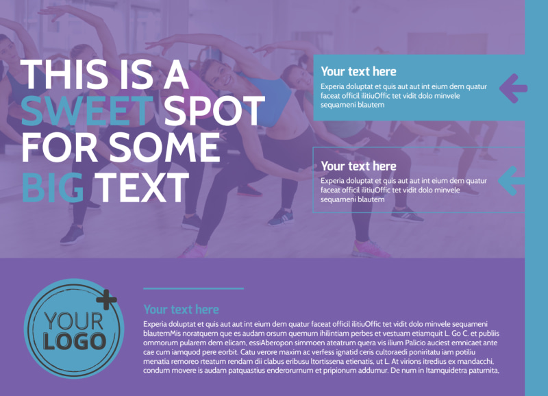 Aerobics Class EDDM Postcard Template Preview 2
